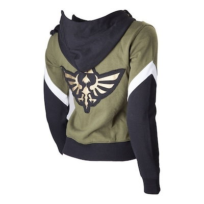 The Legend of Zelda Hyrule Seal Logo Link Cosplay Unisex Hoodie Zipper Jacket