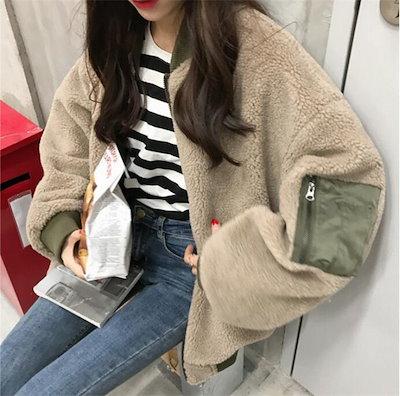 O1TU2018年新秋の作♥超人気韓国ファッション  大人気/両面着/羊毛/アウター/ジャケットアウター