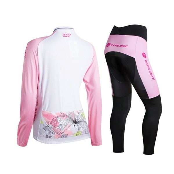 Zerobike 2016 New Arrivals Outdoor Sports Riding Long Sleeve Women Cycling Jersey Set Cycle Sportswe