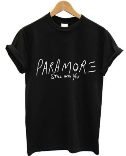 Summer Fashion Women T Shirt PARAMORE STILL INTO YOU Print Top Tees Women Cotton Casual Short Sleeve