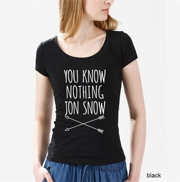 新しいホットレディースTシャツ2017ファッションは何も知らないJon Snowトップ10のトロンズのTシャツゲーム