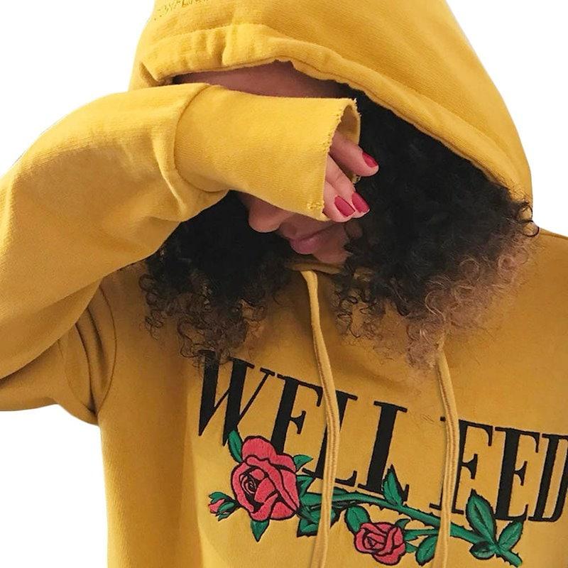 Winter Jacket Women Long Sleeve Printed Hoodie Sweatshirt Sweater Hooded Coat Pullover Tops