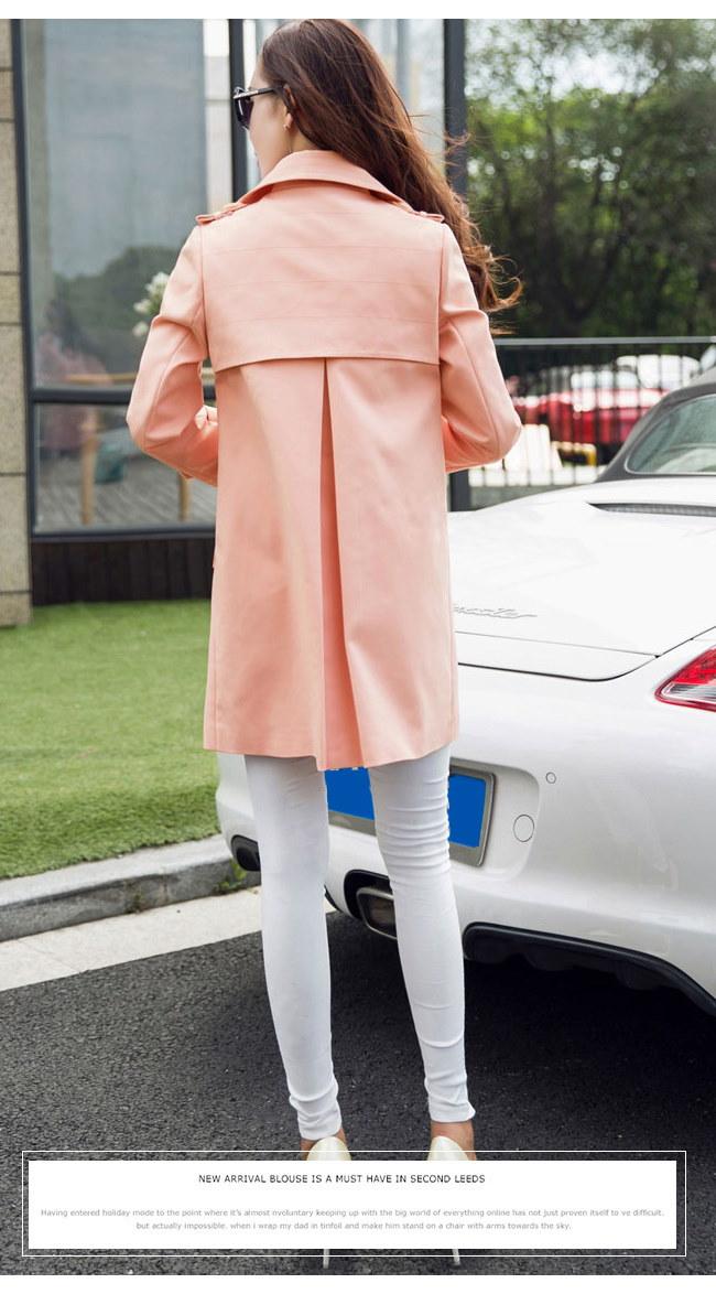 春秋レディースファション韓国ファション トレンチコートアウター美しいライン カジュアルからシックまで 女性の装いで重要な「オシャレ感」と「きっちり感」この二つのポイントを兼ね備えてトレンドの先端を走る