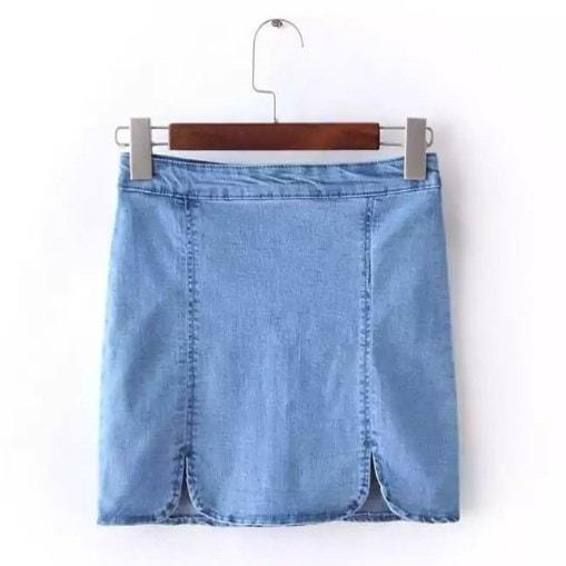 ショートデニムスカート女性ボディコンジーンズスカート女性