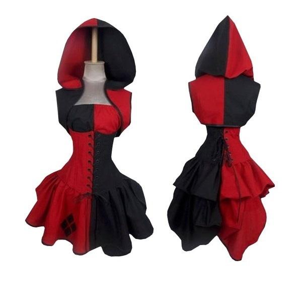 カスタムバットマンArkham Asylum City Harley Quinnコスプレ衣装女性用
