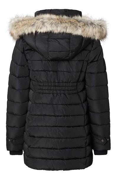ノッピーズ レディース ジャケット・ブルゾン アウター Noppies Bella Two-Way Quilted Maternity Coat with Faux Fur Trim