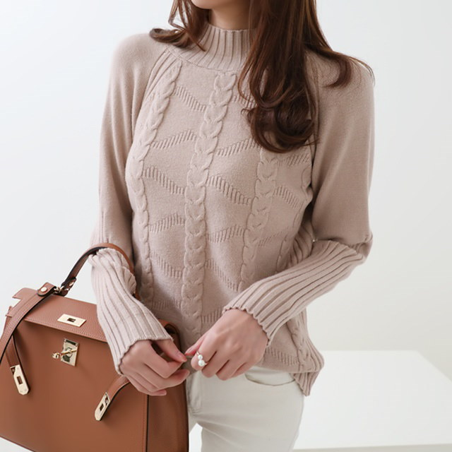 [Dimming] Tara Cable Banpo Pola Knit 4 Color
