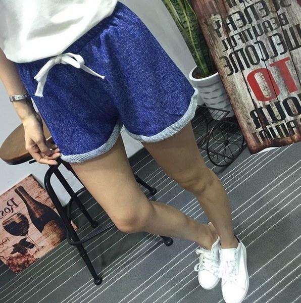 セクシーな女性レディース夏カジュアルルーズショーツビーチショートハイウエストホットパンツ(9色)