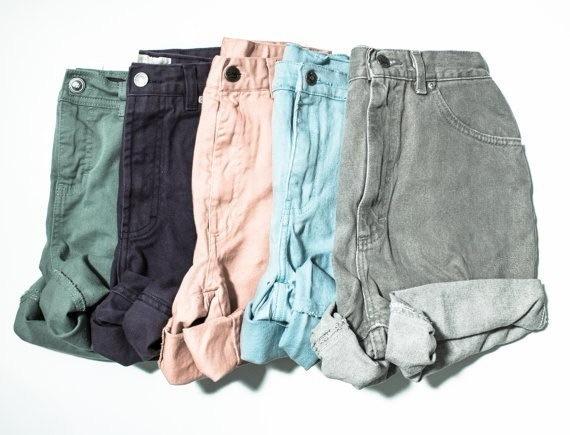 6スタイルの女性ハイウエストスキニージーンズショーツポケットデザインカジュアルショーツ