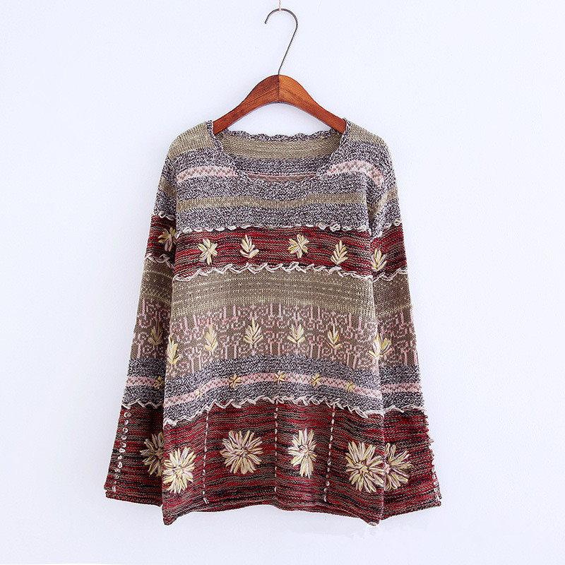 17新品 韓国ファション クルーネック セーター 可愛い 秋冬用品 綿製品51-70%