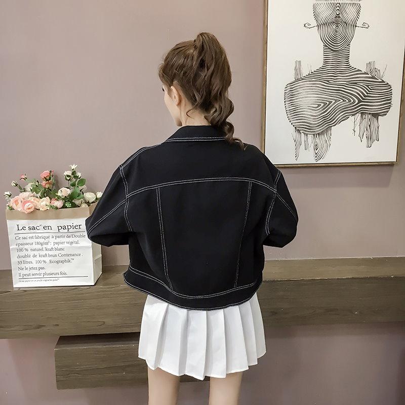 ブラック デニム ジャケット ショート アウター ジージャン(81-8) ※納期に10日から14日ほどかかります。