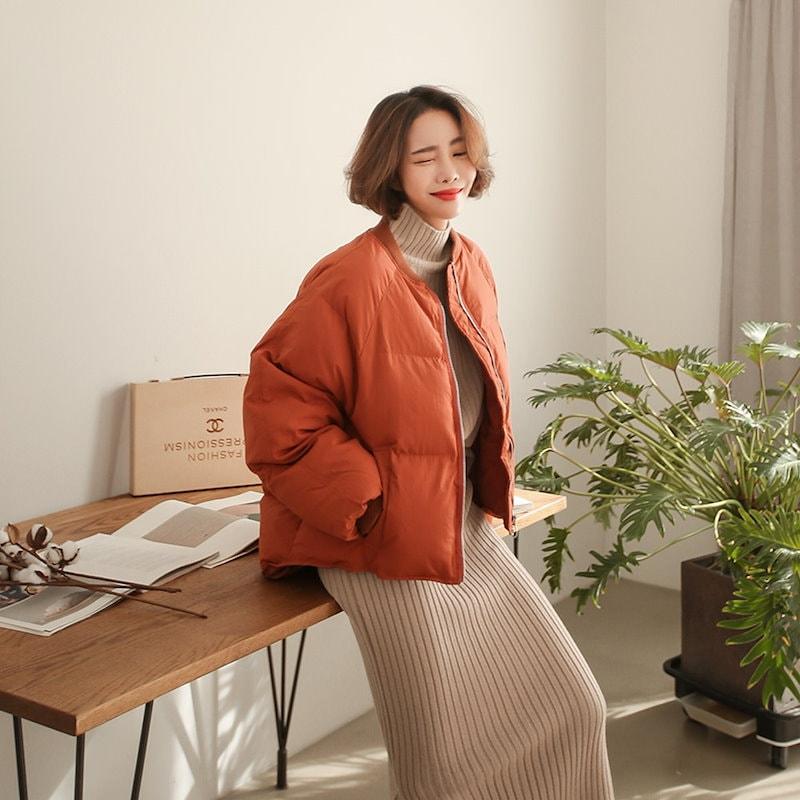 ♥送料 0円★PPGIRL_A959 Sibory padding jumper / outer / casual jacket / zip up jumper / padding jacket