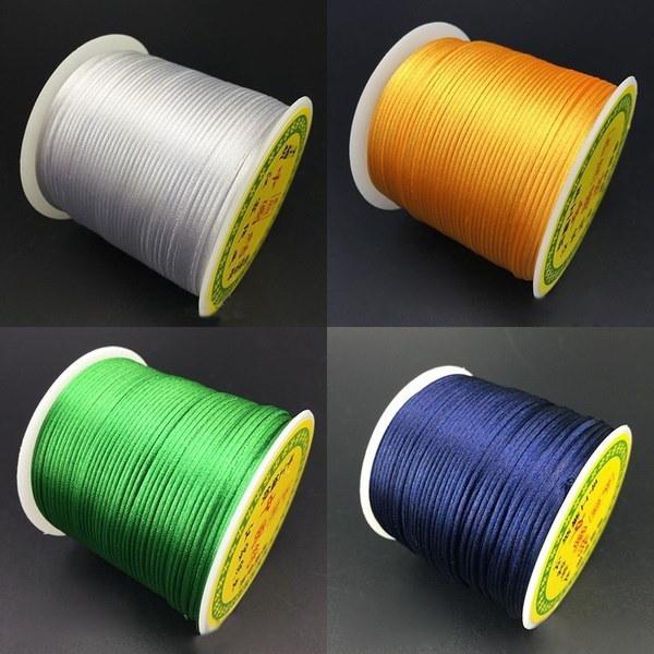 DIY Colorful Kumihimo Macrame Beading Satin Rattail Thread High Quality Shamballa Nylon Cord