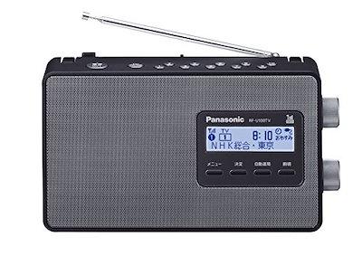パナソニック ラジオ FM/AM/ワンセグTV音声 ブラック RF-U100TV-K