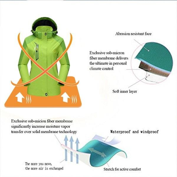 2017秋と冬の女性屋外防水ジャケット暖かい通気性のスポーツジャケット