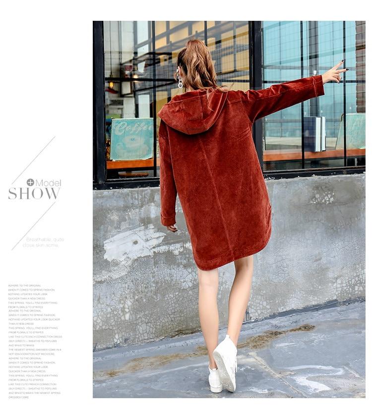[55555SHOP]パーカー スリム モコモコ スリット 防寒保暖 フード付き ファッション 原宿系 全2色