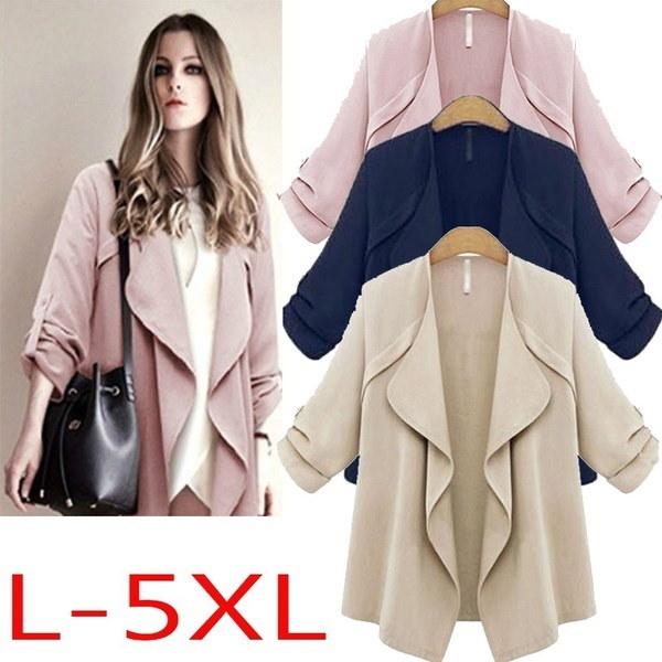 2017 Autumn Women Back To School Casual New Fashion Short Outwear  Loose Lotus Collar Windbreaker Lo