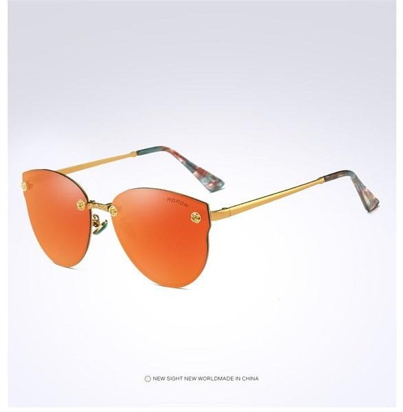 AORONブランドデザイナーPolarizedサングラスWomen's Glassesメタルフレームoculos de sol Steampunk Anti G