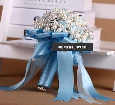 Wedding bouquet 高級感 ウエディングブーケ エレガント 手作り 結婚式 花嫁 ウェディング小物 花束  WTHYD53