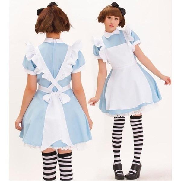 2917新しい女性の女の子はセクシーな衣装アダルトアリスワンダーランドコスチュームスーツメイドロリータファンシードレス