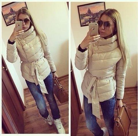 ベルトボタンダウンコートで冬のカジュアル女性のジャケット