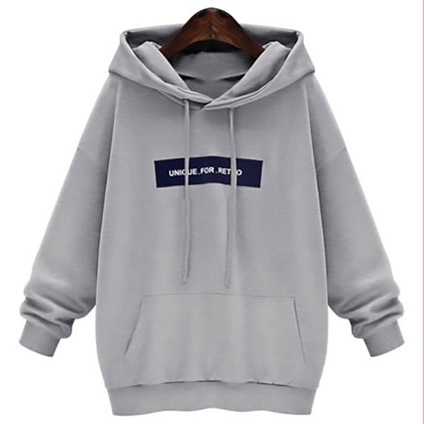Women s Casual Hoodies Letter Print Unique for Retro New Fashion Design Sport Sweatershirt
