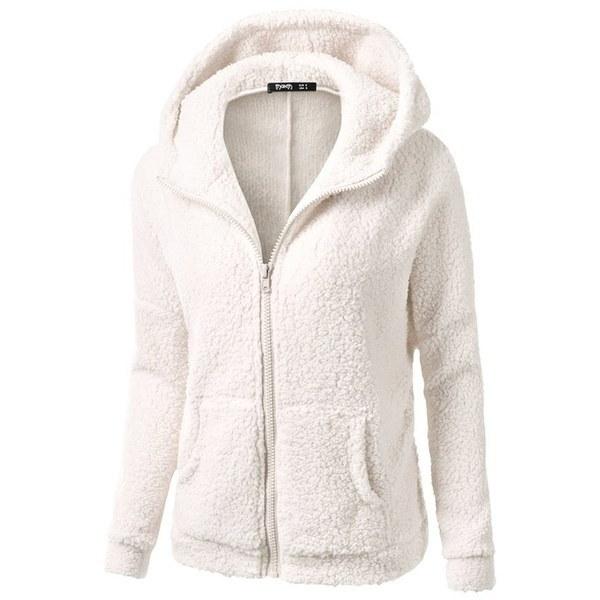 カジュアルな女性のパーカーコート、ウールのスウェットシャツを追加