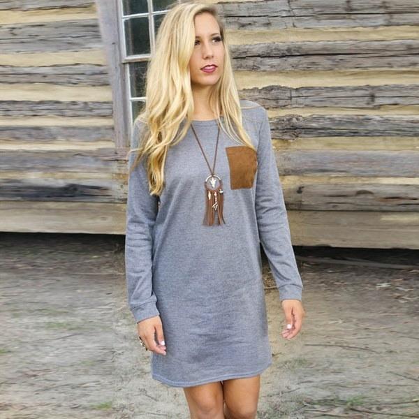 1PCの女性のファッション女性のニットカジュアルセーター秋冬編みプラスサイズスプリットプルオーバー汗