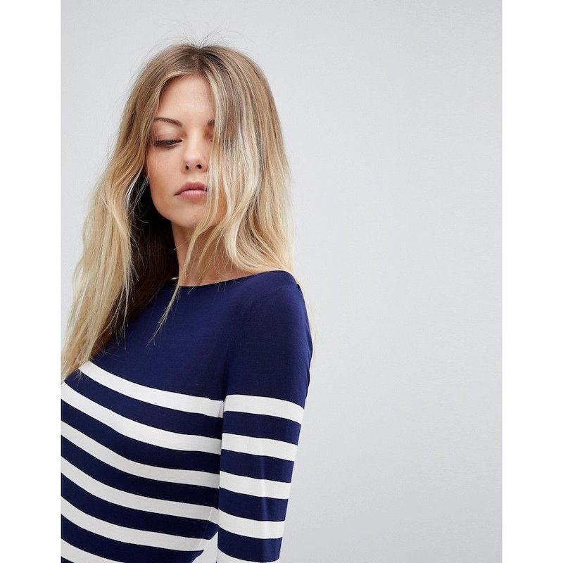 オアシス レディース トップス【Oasis Stripe Long Sleeve Top】Multi blue