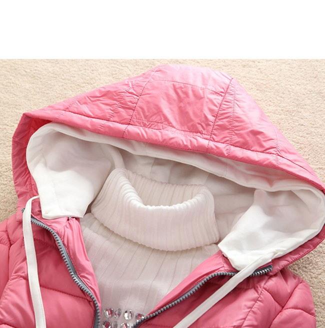 レディース服 女性 大人 冬服 コート アウター ダウンコート ダウンジャケット 細身 無地 シャーベットカラー 帽子 カジュアル アウトドア シンプル ショート丈