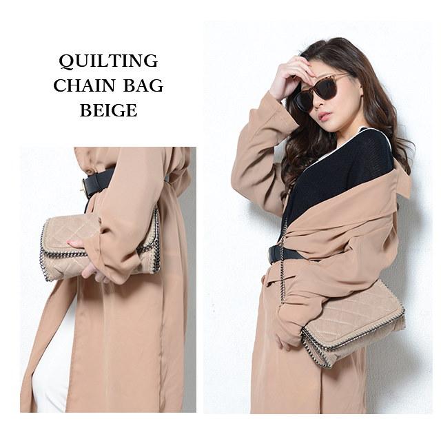 冬新作 キルティングチェーンバッグ【即納】バッグ 鞄 チェーンバッグ ショルダー キルティング ミニバッグ シンプル レディース