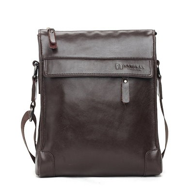 Men s Genuine Leather Bag Shoulder Messenger Satchel Briefcase Fashion Black