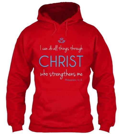 Christian Tshirt:Christ Strengthens Meギルダン8oz Heavy Blend Hoodie