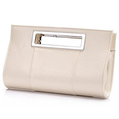 Fashioncity Chic Horizontal Shape Crocodile Woman s Evening Clutch Bag Handbag (More Colors)