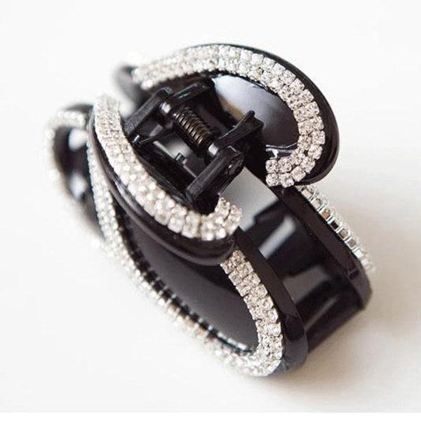 ファッションヘッドドレスジュエリーヘアピンフルダイヤモンドバタフライヘアクリップクロー