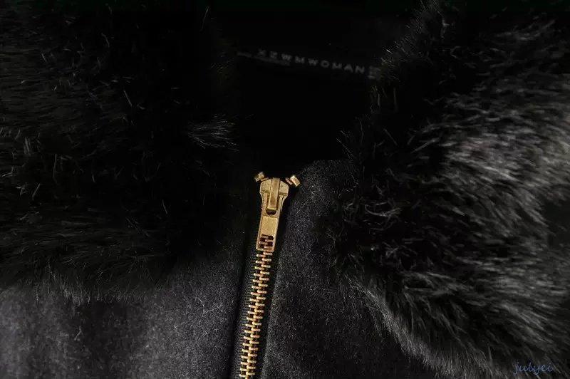 欧米風冬アウターの定番  毛皮の襟 レディース  着痩せ  ウールコート ポケット/長め ゆったり 保温性 大きめ /あたたかい   ゆる感