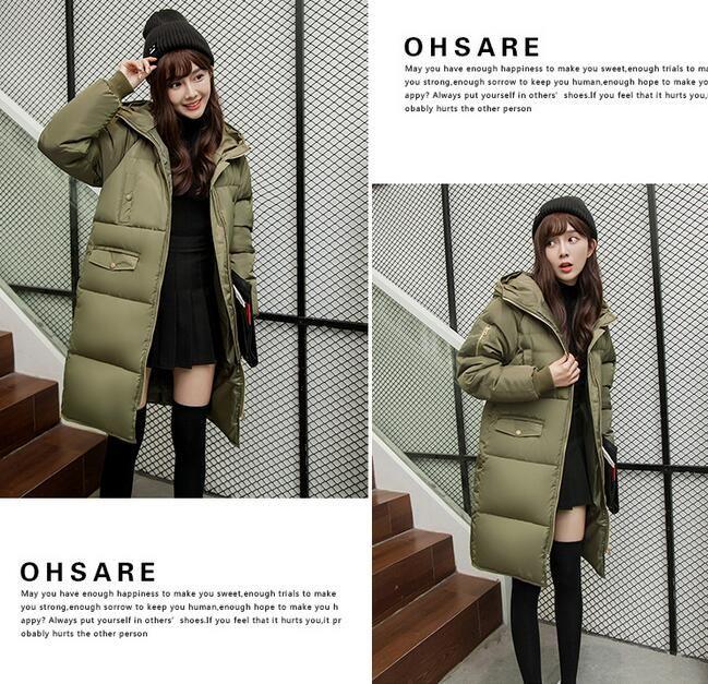 y13  ダウンコート 素敵 ロングコート アウター  大きいサイズ 防寒 暖か ダウン緑 ♪