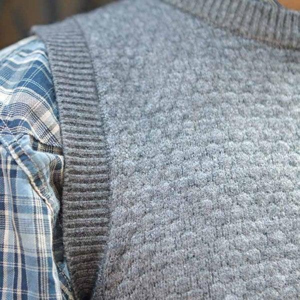 ベスト ノースリーブ ニットベスト クルーネック プルオーバー メンズ カジュアル 無地 シンプル セーター キレイ目 カジュアル