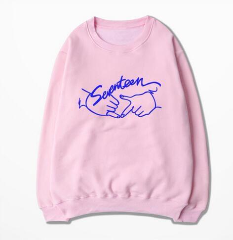 おまけ付!送料無料Seventeen17同スタイルパーカー Tシャツトレーナー 韓流スター/韓国芸能人/服 着用 公式グッズ Tシャツ レディース メンズ Seventeen