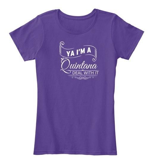 Quintana   Deal With It! Women s Premium Tee