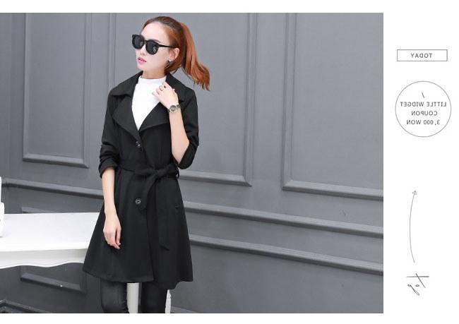 春秋レディースファション韓国ファション トレンチコートアウター 美しいライン 女性の装いで重要な「オシャレ感」と「きっちり感」この二つのポイントを兼ね備えてトレンドの先端を走る。トレンチコート