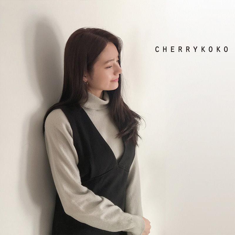 [CHERRYKOKO]ベーシックタートルネックニット ミントカラー[秋冬新作][送料無料]✯韓国ファッション✯C711PHTE12