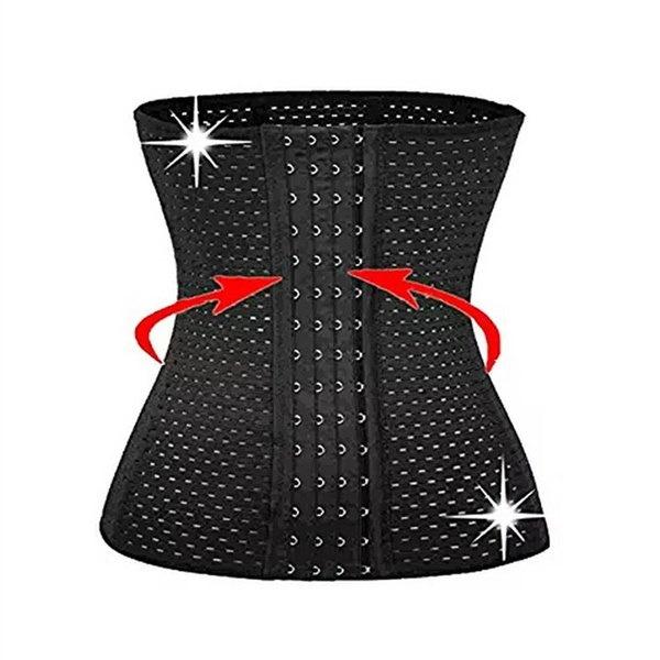 クリスマスプレゼントスリムボディウエストトリミートリマーブラック4スチールボーンレディース通気性ウエストトレーナー