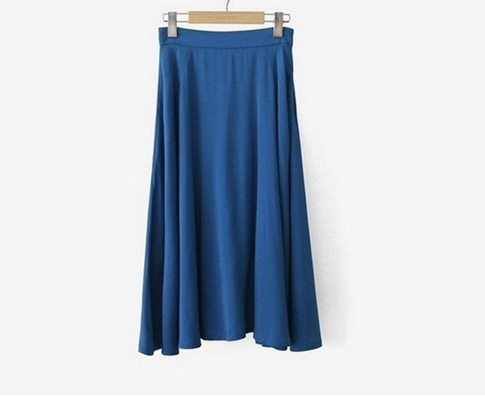 [新作★NewItem]3サイズ!Aラインシンプルロングスカート/レディース♪(モデル着用スカート番号:E-999043)【RCP】【smtb-m】