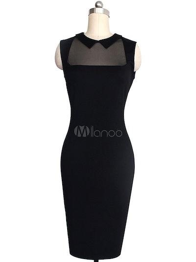 Mesh Bodycon Dress Black Spandex Dress