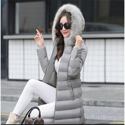 中綿コート レディース 厚手 フート付き 無地 中綿ジャケット アウター 秋 冬 あったか 防寒 防風 おしゃれ 冬服