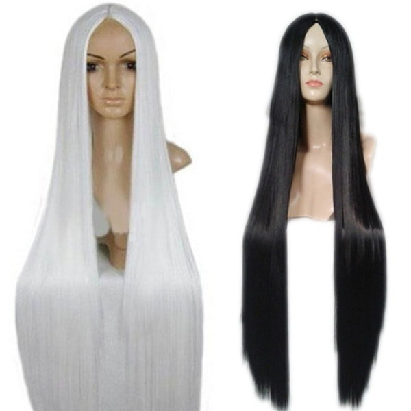 100 Cm Harajuku Cosplay Wigs Long Straight Synthetic Hair Wig Costume Party Wigs