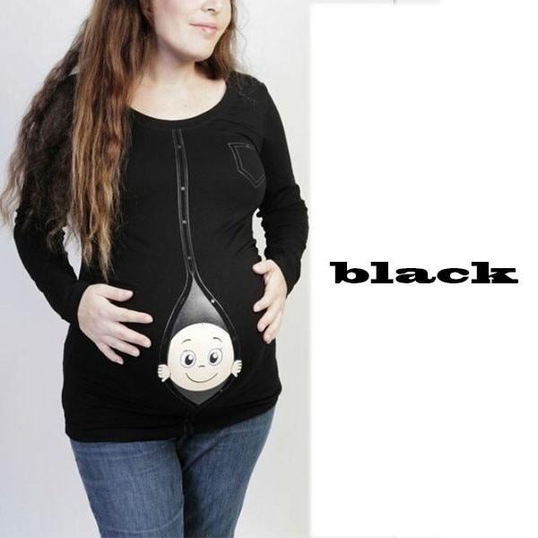 妊娠中の女性に特化した新生児用シャツを出産中の赤ちゃん