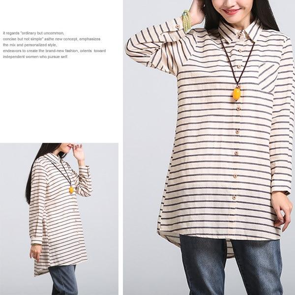 レディース トップス シャツ 羽織り ロングシャツ  チュニック丈 長袖 ボーダー 大きいサイズ 体型カバー ゆったり 送料無料 2カラー 4サイズ M L XL XXL tp357