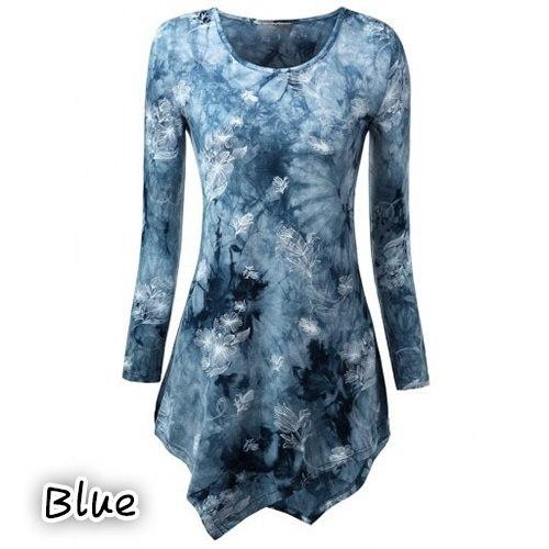 ブランドYeehorstar大きいサイズ新しいファッションカジュアル女性春プラスサイズTシャツカジュアルプリント不規則なH